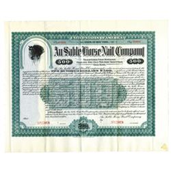 Au Sable Horse Nail Co., 1905 Specimen Bond