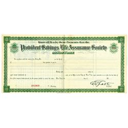 Provident Savings Life Assurance Society of New York, ca.1880-1900 Specimen Bond