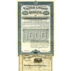 Walter A. Wood Mowing and Reaping Machine Co., 1900 Specimen Bond