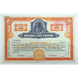 Ahumada Lead Co., ca.1920-1930 Specimen Stock Certificate