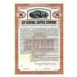 Ely Central Copper Co., 1910 Specimen Bond