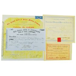 Mining Related Stock Certificate Quartet.