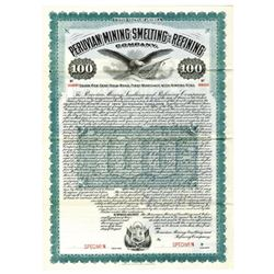 Peruvian Mining Smelting and Refining Co., 1906 Specimen Bond