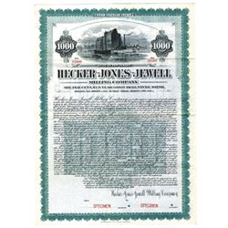 Hecker-Jones-Jewell Milling Co., 1906 Specimen Bond