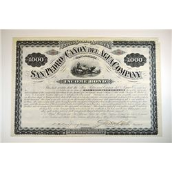 San Pedro and Canon Del Agua Co., 1880 bond.