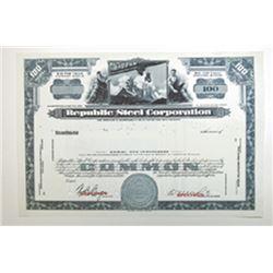 Republic Steel Corp, ca.1930-1940 Specimen Stock Certificate