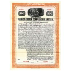 Canada Copper Corp., Ltd., 1914 Specimen Bond