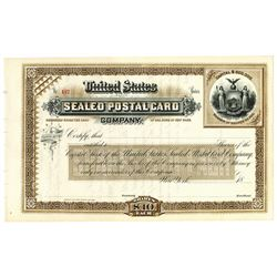 United States Sealed Postal Card Co., ca.1880-1890 Specimen Stock Certificate