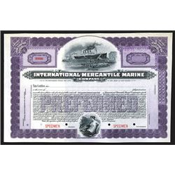 International Mercantile Marine, 6% Cumulative Preferred Capital Stock, 1902 Specimen Stock Certific