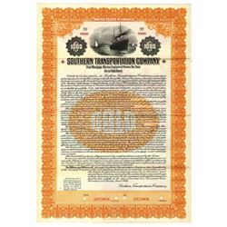 Southern Transportation Co., 1924 Specimen Bond