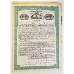 Gaston, Williams & Wigmore, Inc., 1916 Issued Bonds Lot of 28.