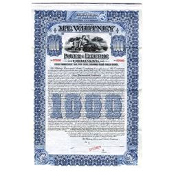 Mt. Whitney Power and Electric Co., 1909 Specimen Bond