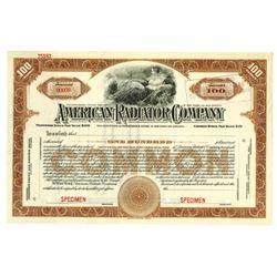 American Radiator Co., ca.1950-1960 Specimen Stock Certificate
