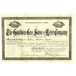 Goodwin Gas Stove and Meter Co., 1880 Issued Stock Certificate