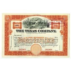 Texas Company (TEXACO Precursor Company), 19xx (ca.1900-1910) Specimen Stock Certificate.