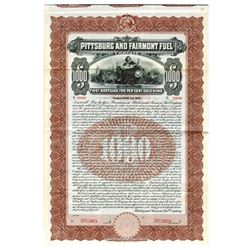 Pittsburg and Fairmont Fuel Co., 1905 Specimen Bond
