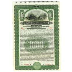 South and North Alabama Railroad Co., 1913 Specimen Bond