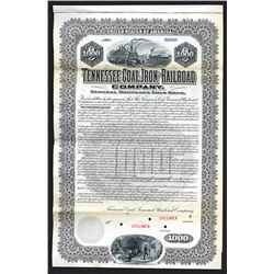 Tennessee Coal & Iron Railroad Specimen Bond. 1901.
