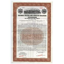 Detroit, Toledo and Ironton Railroad Co., ca.1950-1960 Specimen Bond