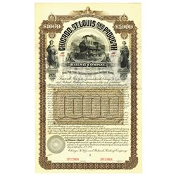 Chicago, St. Louis and Paducah Railway Co., 1887 Specimen Bond