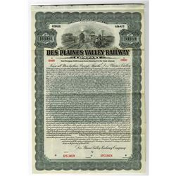 Des Plaines Valley Railway Co., 1912 Specimen Bond
