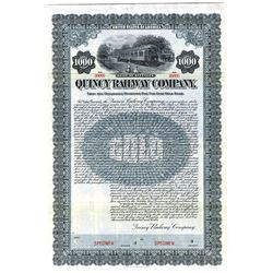 Quincy Railway Co. Specimen Bond.