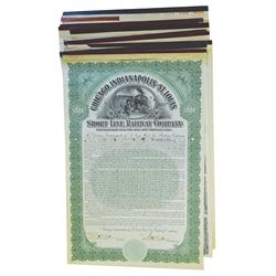 Group of Railroad Related Issued Bonds, ca.1900-1930