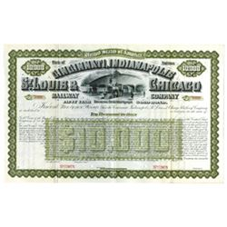 Cincinnati, Indianapolis, St. Louis & Chicago Railway Co., ca.1890-1910 Specimen Bond