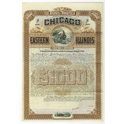 Chicago, Eastern Illinois Railroad Co., 1887 Specimen Bond