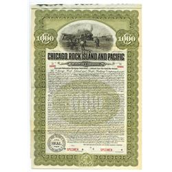 Chicago, Rock Island and Pacific Railway Co., 1904 Specimen Bond