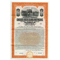 Chicago, Rock Island and Pacific Railway Co., 1927 Specimen Bond