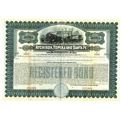 Atchison, Topeka and Santa Fe Railway Co., 1909 Specimen Bond