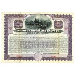 Atchison, Topeka and Santa Fe Railway Co., ca.1900-1920 Specimen Bond