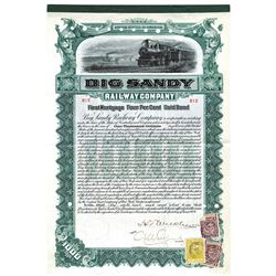 Big Sandy Railway Co., 1904 Issued Bond