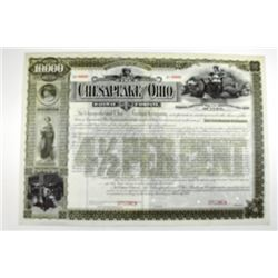 Chesapeake and Ohio Railway Co. 1892 Specimen Bond.