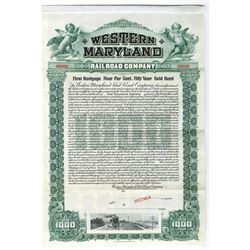 Western Maryland Rail Road Co., 1902 Specimen Bond