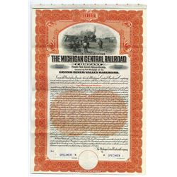 Michigan Central Railroad Co., 1909 Specimen Bond