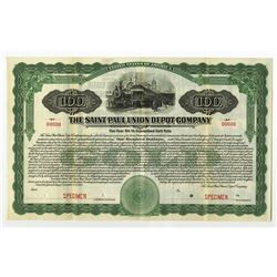 Saint Paul Union Depot Co., 1918 Specimen Bond