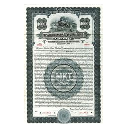 Missouri-Kansas-Texas Railroad Co., 1922 Specimen Bond