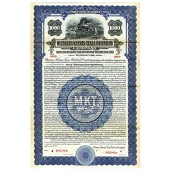 Missouri-Kansas-Texas Railroad Co., 1928 Specimen Bond