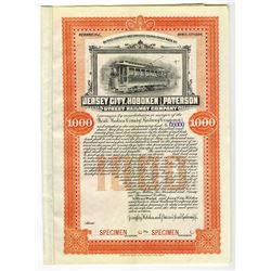 Jersey City, Hoboken and Paterson Street Railway Co., 1894 Specimen Bond