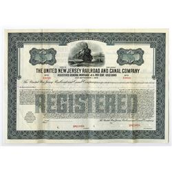 United New Jersey Railroad and Canal Co., 1929 Specimen Bond