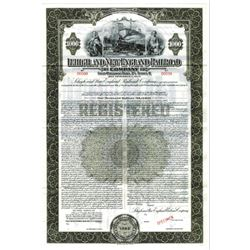 Lehigh and New England Railroad Co., 1935 Specimen Bond