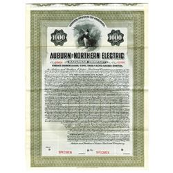 Auburn and Northern Electric Railroad Co., 1905 Specimen Bond