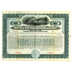Buffalo & Susquehanna Railway Co., ca.1900-1920 Specimen Bond