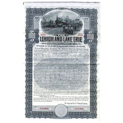 Lehigh and Lake Erie Railroad Co., 1907 Specimen Bond