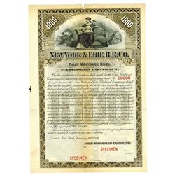 New York & Erie R.R. Co., 1897 Specimen Bond