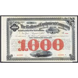 Railroad Equipment Co. Specimen Bond.