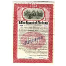 Buffalo, Rochester & Pittsburgh Railway Co., 1907 Specimen Bond