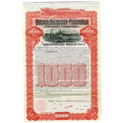Buffalo, Rochester & Pittsburgh Railway Co., 1909 Specimen Bond